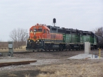 A Trio of Geeps Take Freight Off the Creston Sub North onto the Council Bluffs Sub