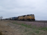 UP 4914 & UP 7659 Lead an East-bound Freight Train