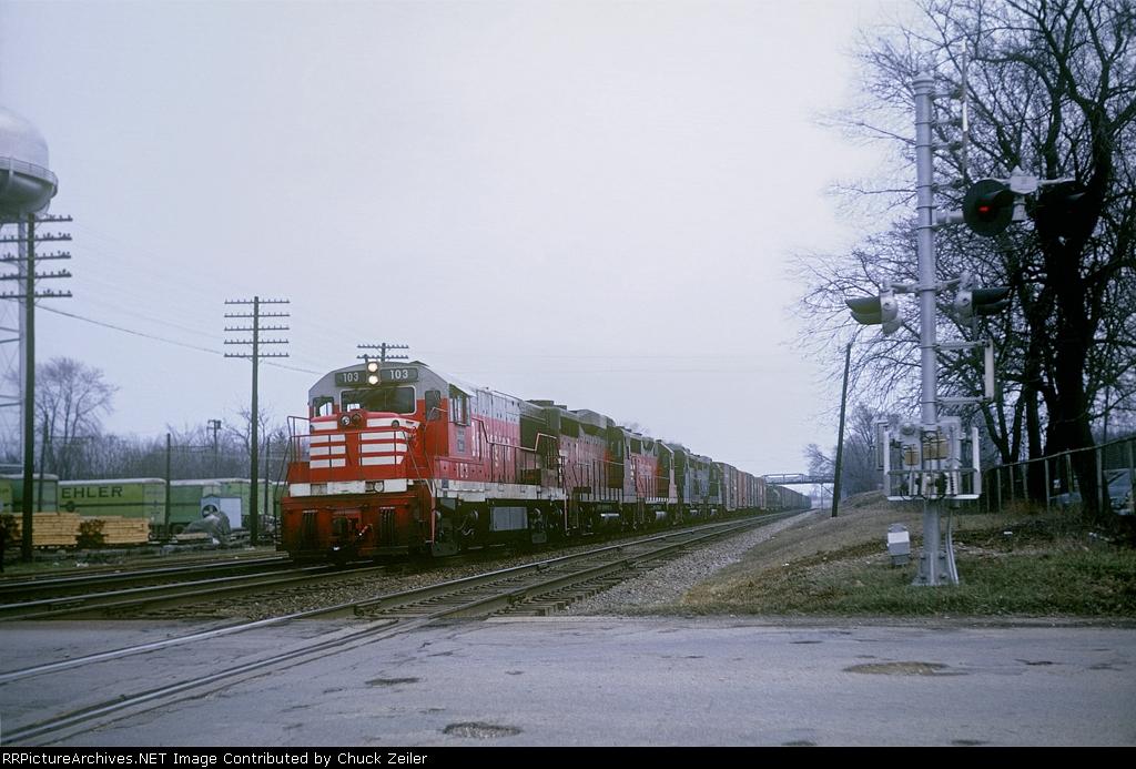 CB&Q U25B 103