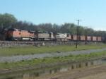 BNSF rock train Carrollton, Texas