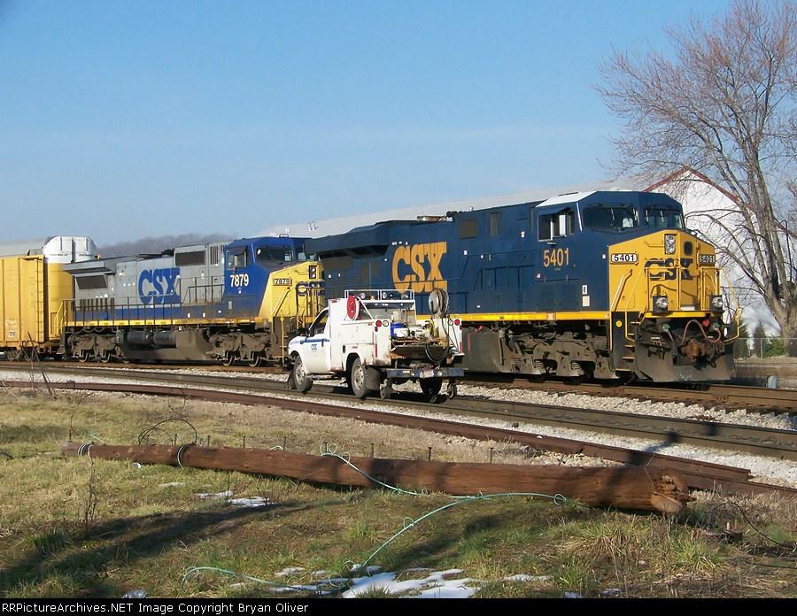 CSX Truck & Train