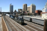 NS 9307 passes downtown