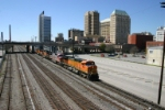 BNSF 5337 passes the skyline