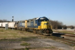 CSX 2742 and the local come to switch the NS