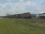Northbound CSX detour train