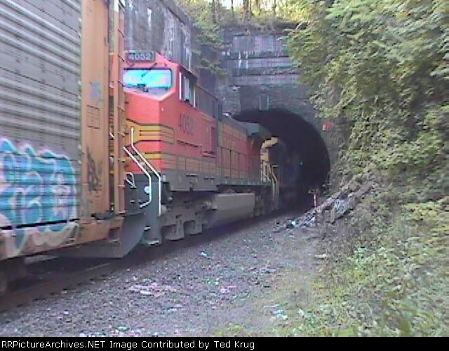 Bergen Tunnel east end