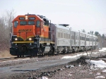 080413015 Northbound BNSF passenger special crosses Central Ave