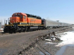 080413016 Northbound BNSF passenger special crosses Central Ave