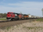080524020 Westbound BNSF CSX-Pasco freight with Ferromex unit