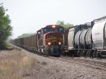 080524026 Eastbound BNSF coal train meeting westbound BNSF CSX-Pasco
