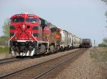 080524033 Westbound BNSF CSX-Pasco freight with Ferromex unit