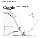 """080525010 Map of possible abandoned railroad right-of-way between Lincoln and Cushing, now used as """"Beaver Road"""""""