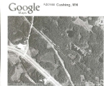 """080525012 Aerial photo of possible abandoned railroad right-of-way between Lincoln and Cushing, now used as """"Beaver Road"""""""