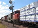 080801005 Southbound CN freight passes ex-DWP yard