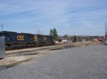 CSX 4529 Leads a Train past the Aberdeen Station and AR 309