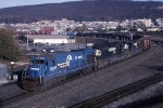 Conrail B-23-7 2009 traverses the big curve at CP Center as ALSR (Allentown-Southern Railway) heads west out of town