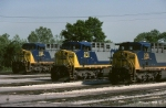 Three CSX GE AC4400CWs line up for a portrait