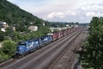 Conrail EMD SD-40-2 6474 is minutes away from it's final destination (Conway yard) with MOPI  (Morrisville-Pittsburgh)