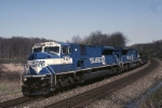 Conrail SD-80MAC 4129 leans into a curve with PIEL (Pittsburgh-Elkhart)