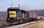 CSX GE C-40-8 7628 waits for a new crew