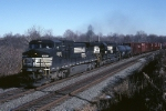 Norfolk Southern C-40-8W 8315 has a mixed freight westbound