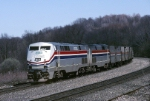 A pair of Amtrak GE P42DC's climb westbound out of Pennsylvania