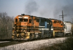 Buffalo & Pittsburgh EMD GP-40 102 storms out of the yard