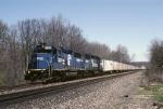Conrail EMD GP-40-2 3300 speeds a Roadrailer west