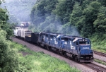 A trio of Conrail GP-40-2's charge west with ENPI (Enola-Pittsburgh)