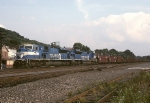 """Conrail EMD """"Superpower"""" SD-80MAC 4113 and partner hustle a westbound coal train towards Conway yard"""