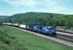 Conrail GE B-36-7 5000 is pulling TV-2 thru the beautiful Pennsylvania scenery