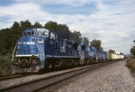 ALPI (Allentown-Pittsburgh) is minutes out of Allentown with Conrail GE C-40-8W 6054 leading