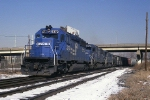 Conrail EMD SD-40-2 6372 brings CGAL (Corning Gang Mills-Allentown) by CP HAM and ito the yard