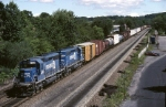 PISE (Pittsburgh-Selkirk) has 6,000 h.p. worth of Conrail EMD SD-40-2's bringing up the rear and lending a much needed hand