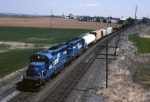 Conrail EMD SD-40-2 6495 has an ALSR (Allentown-Southern Railway) in tow