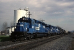 Cruising along the old Reading Lines mainline, Conrail EMD SD-40-2 6512 is leading ALPG (Allentown-Philadelphia Greenwich)