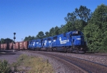 Conrail EMD SD-50 6775 crawls along at CP Burn with NSSE (Norfolk Southern-Selkirk)
