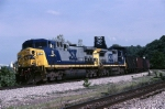 CSX GE AC44CW 41 pilots a coal train north on the old Pittsburgh & Lake Erie mainlne