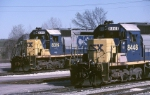 Two CSX SD-40-2's show off their classic EMD style