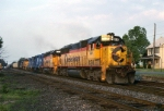 CSX EMD SD-50 8576 heads toward the setting sun with ALEN (Allentown-Enola)