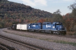 Now working for the Norfolk Southern, this pair of ex-Conrail EMD SD-40-2's have ran this route many times before. They will shove this boxcar freight west to Conemaugh and then cut off.
