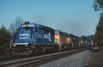 Norfolk Southern EMD SD-40-2 3412 is charging uphill with a westbound freight
