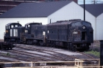 A little snooping around the Juniata Shops revealed an odd numbered Penn-Central EMD E-8A (306?). a Baldwin S-10 (8276) and an EMD SW-1 (8593)