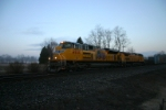 Q390 makes its early morning run to Selkirk