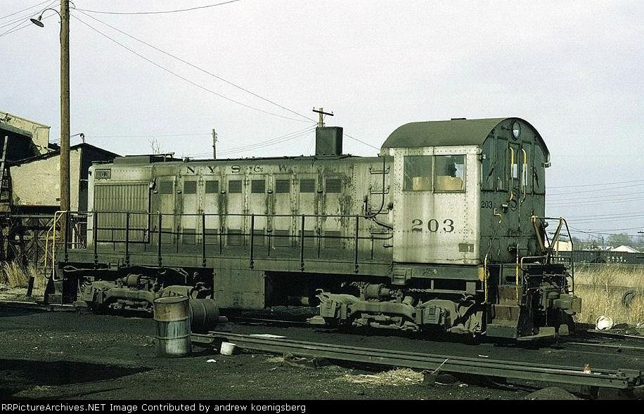 New York, Susquehanna & Western American Locomotive Company S-2 203
