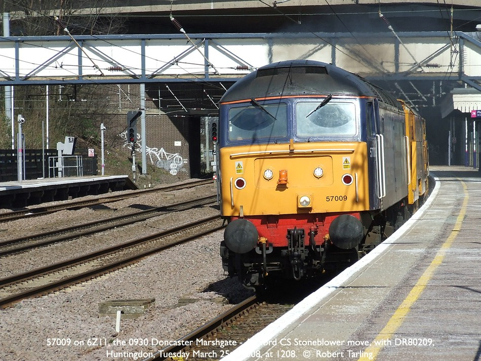 57009 and DR80209 move from Doncaster - Ashford.