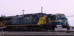 CSX 22 sits beside CSX 776 in the yard
