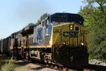 CSX 32 leads a train northbound