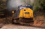 empty coal train takes the curve at atlapass nc on its way back to mine