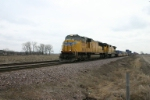UP 4508 is on a westbound export train